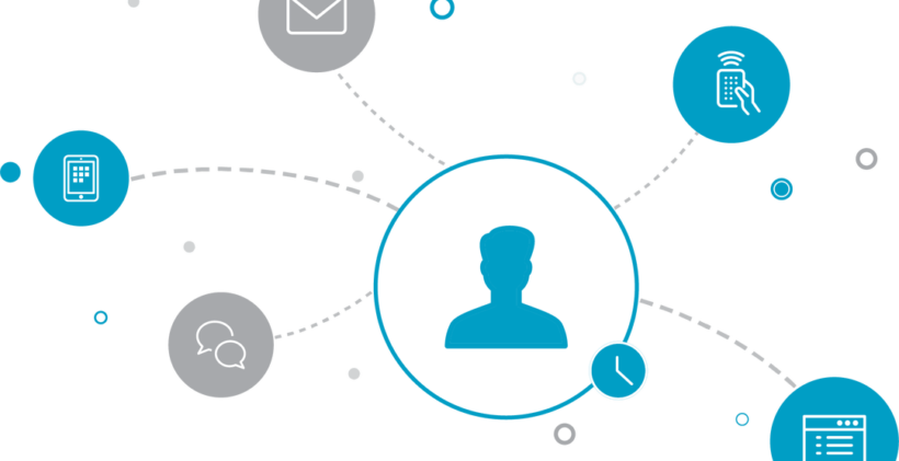 Multi channel interaction with customers - icon